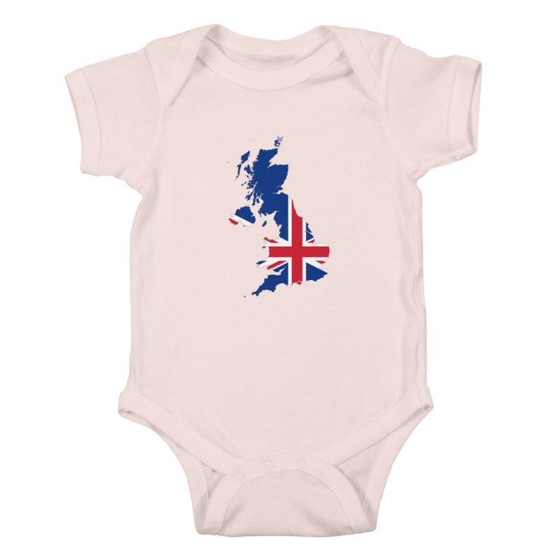United Kingdom Patriot Apparel & Accessories Kids Baby Bodysuit by Vectors NZ