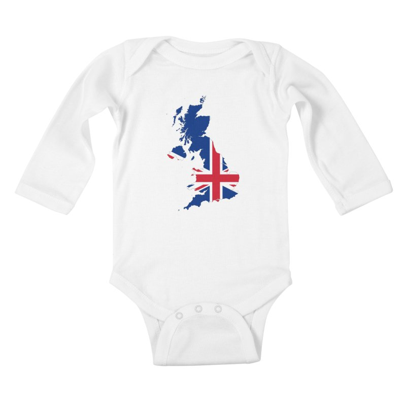 United Kingdom Patriot Apparel & Accessories Kids Baby Longsleeve Bodysuit by Vectors NZ