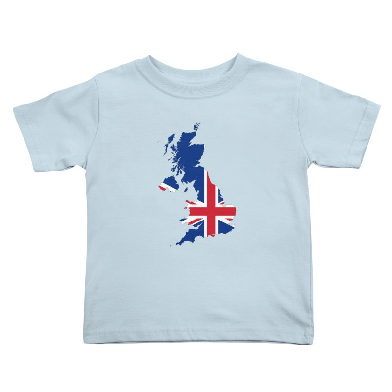 United Kingdom Patriot Apparel & Accessories Kids Toddler T-Shirt by Vectors NZ
