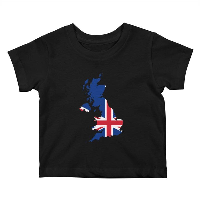 United Kingdom Patriot Apparel & Accessories Kids Baby T-Shirt by Vectors NZ