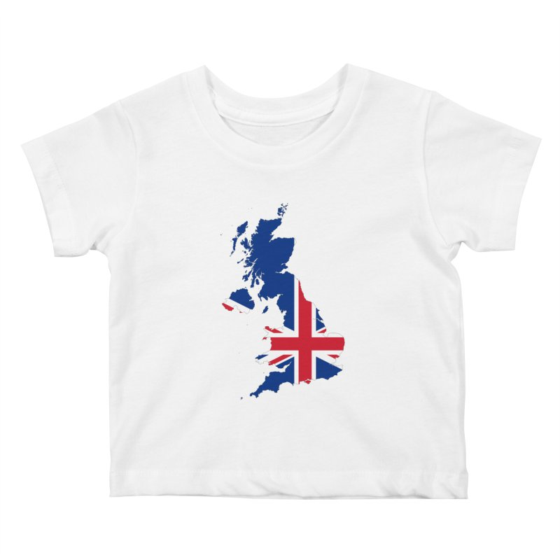 United Kingdom Patriot Apparel & Accessories Kids Baby T-Shirt by Vectors NZ