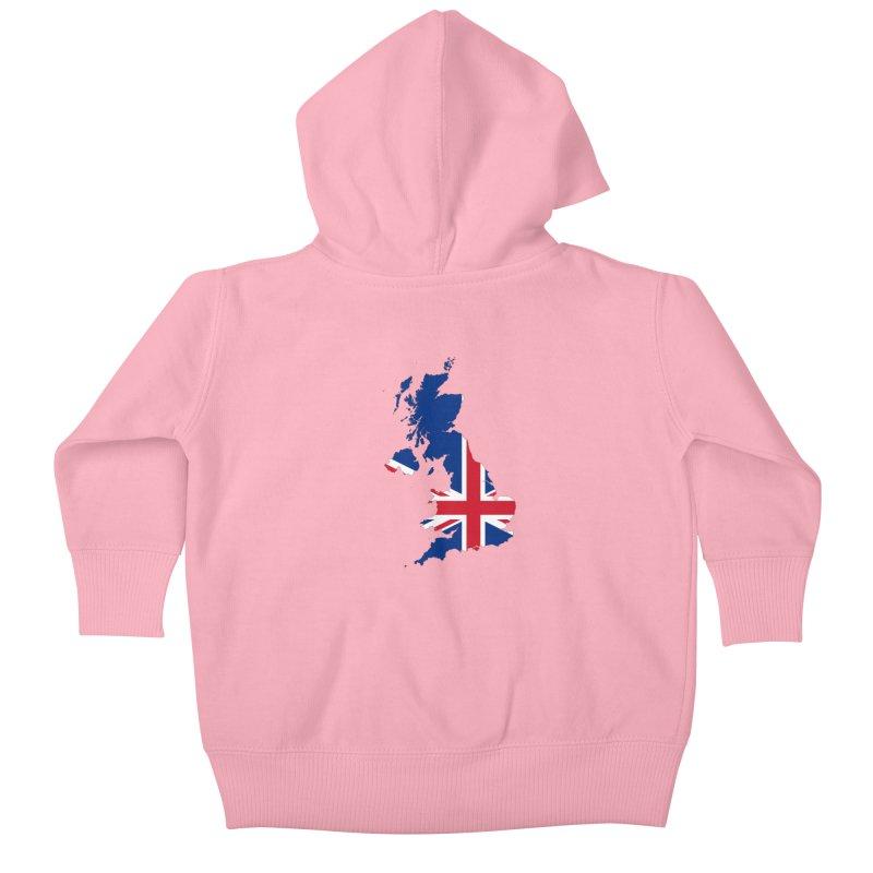 United Kingdom Patriot Apparel & Accessories Kids Baby Zip-Up Hoody by Vectors NZ