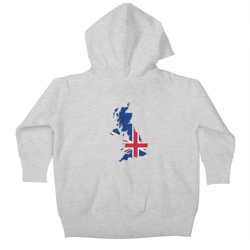 United Kingdom Patriot Apparel & Accessories Kids Baby Zip-Up Hoody by Vectors NZ