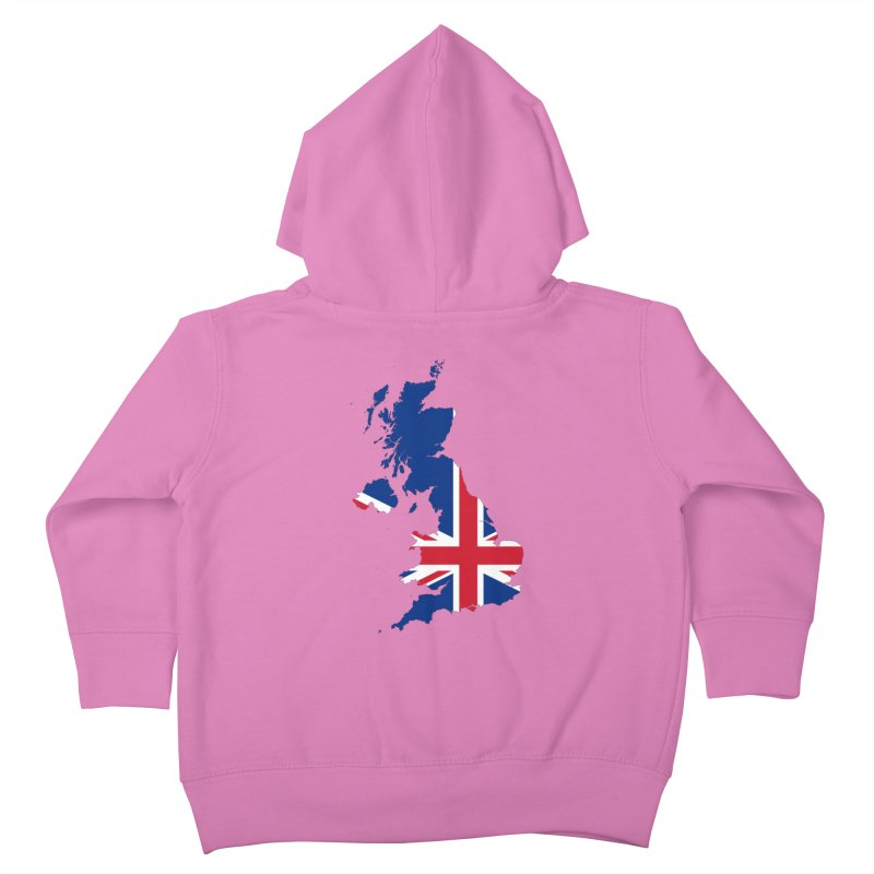 United Kingdom Patriot Apparel & Accessories Kids Toddler Zip-Up Hoody by Vectors NZ