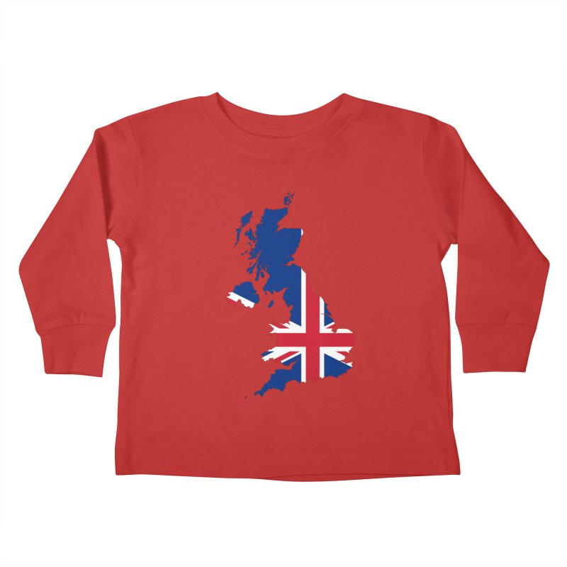 United Kingdom Patriot Apparel & Accessories Kids Toddler Longsleeve T-Shirt by Vectors NZ