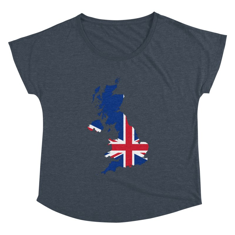 United Kingdom Patriot Apparel & Accessories Women's Dolman Scoop Neck by Vectors NZ