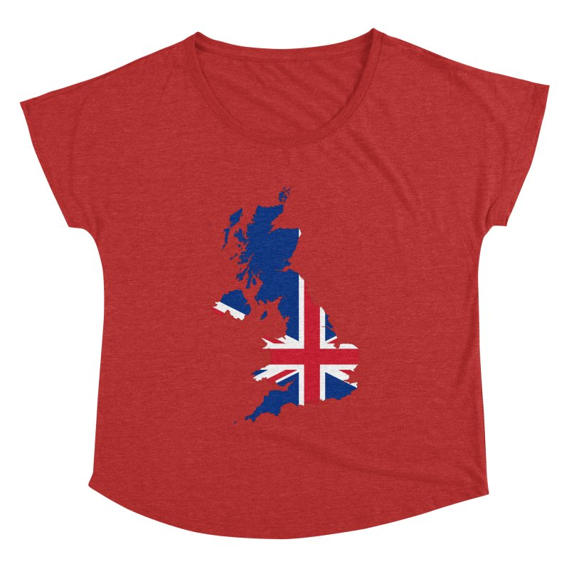 United Kingdom Patriot Apparel & Accessories Women's Dolman Scoop Neck by Vectors NZ