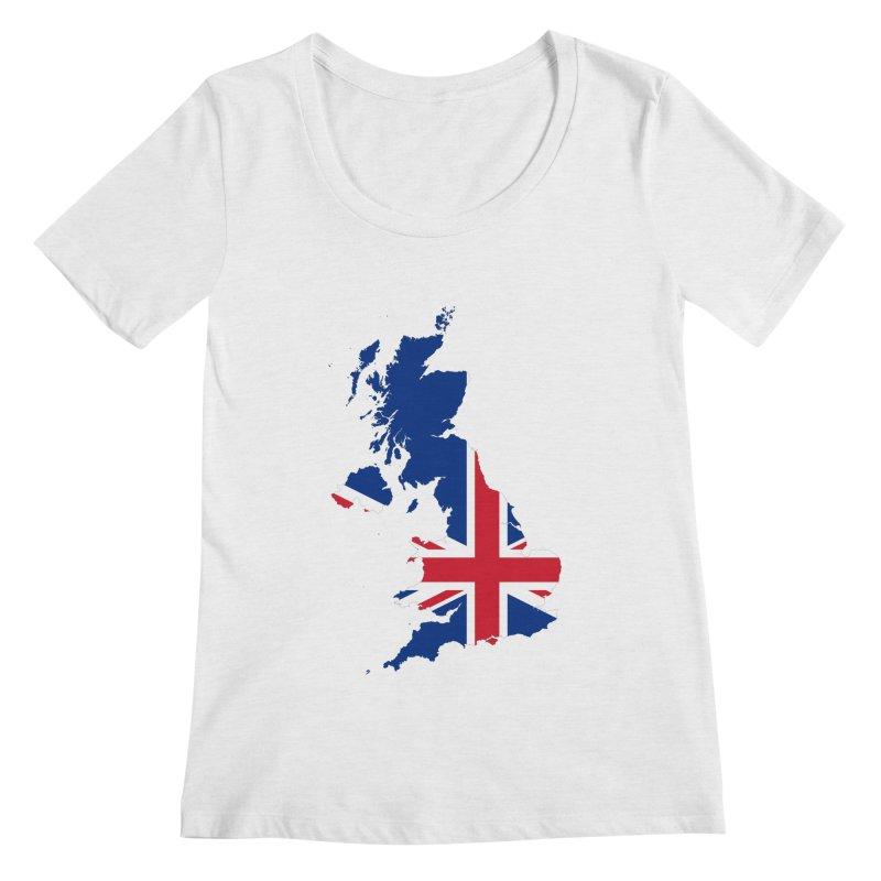 United Kingdom Patriot Apparel & Accessories Women's Regular Scoop Neck by Vectors NZ