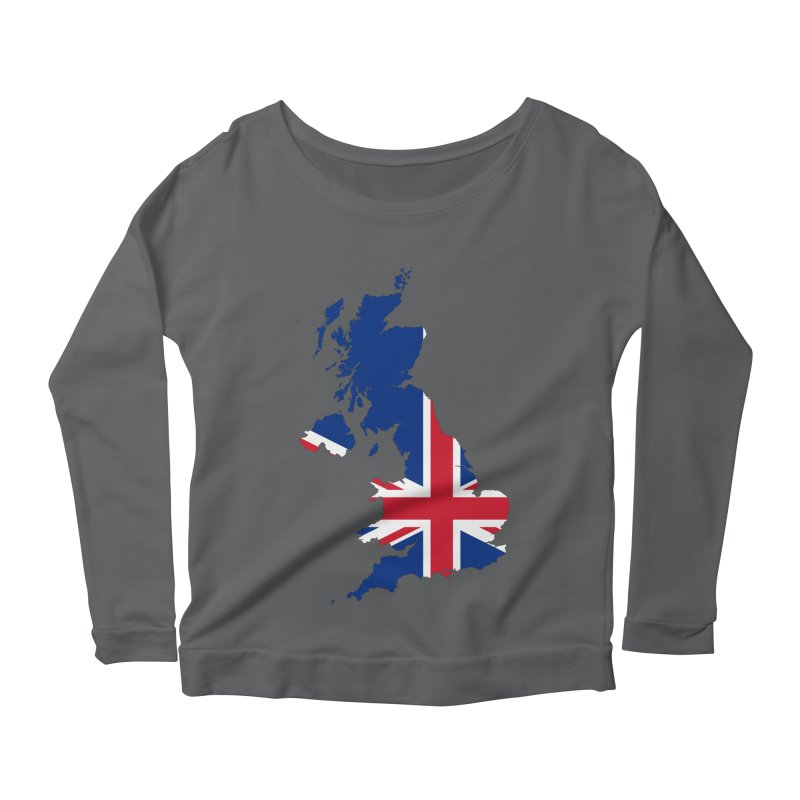 United Kingdom Patriot Apparel & Accessories Women's Scoop Neck Longsleeve T-Shirt by Vectors NZ