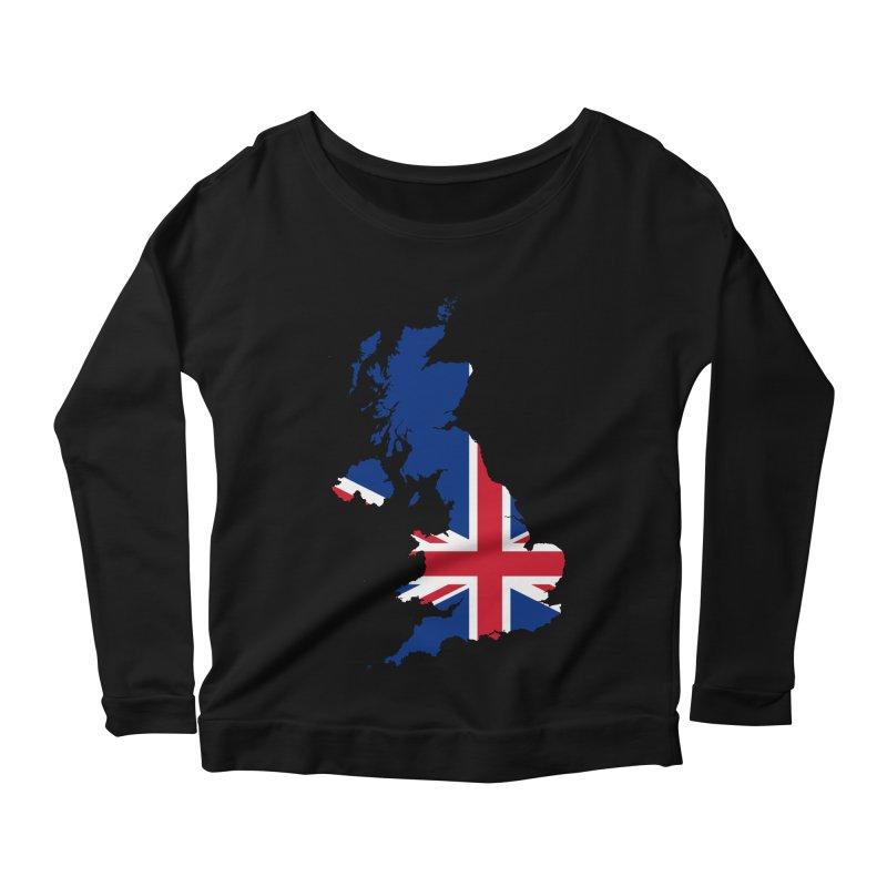 United Kingdom Patriot Apparel & Accessories Women's Scoop Neck Longsleeve T-Shirt by Vectors NZ