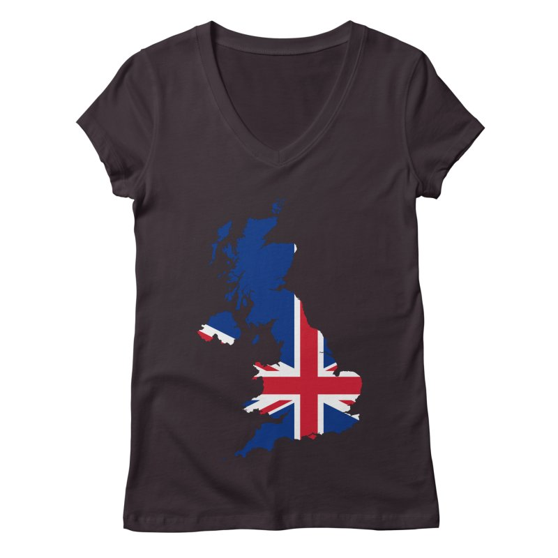 United Kingdom Patriot Apparel & Accessories Women's Regular V-Neck by Vectors NZ