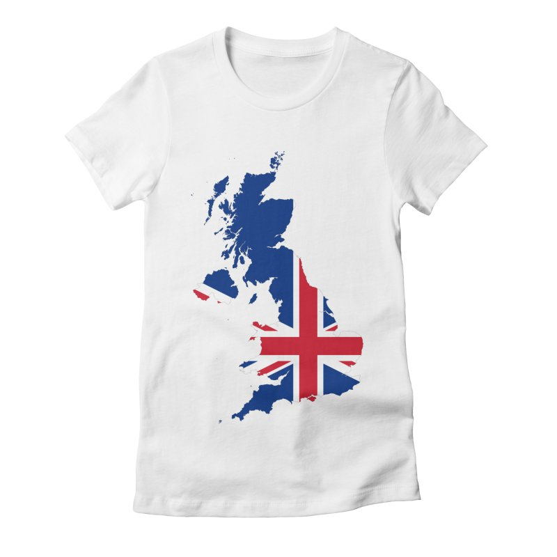 United Kingdom Patriot Apparel & Accessories Women's Fitted T-Shirt by Vectors NZ