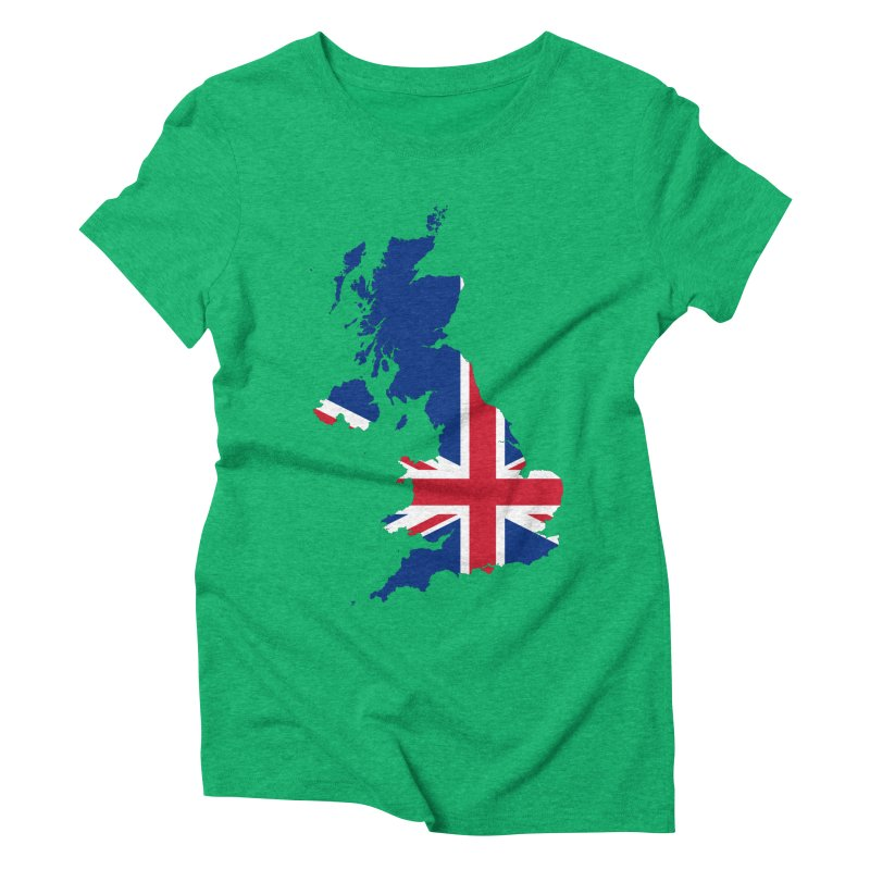 United Kingdom Patriot Apparel & Accessories Women's Triblend T-Shirt by Vectors NZ