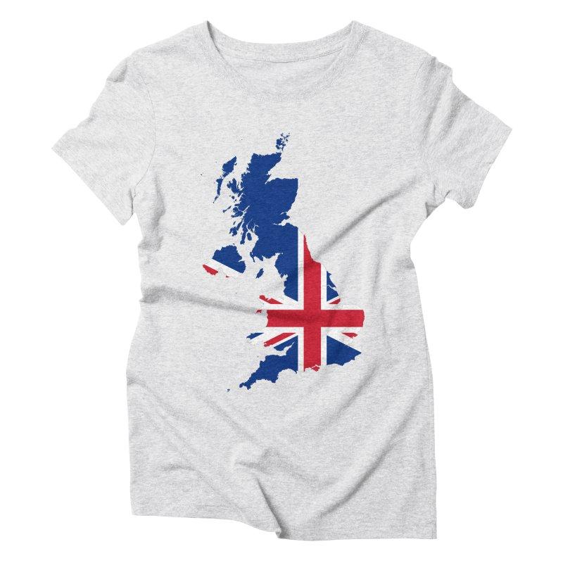 United Kingdom Patriot Apparel & Accessories Women's Triblend T-Shirt by Vectors NZ
