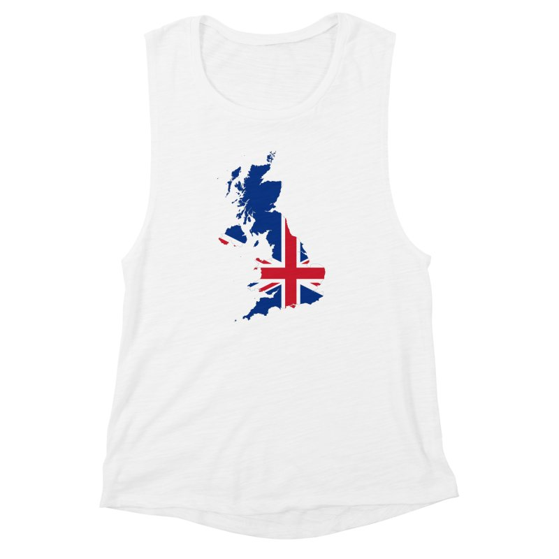 United Kingdom Patriot Apparel & Accessories Women's Muscle Tank by Vectors NZ