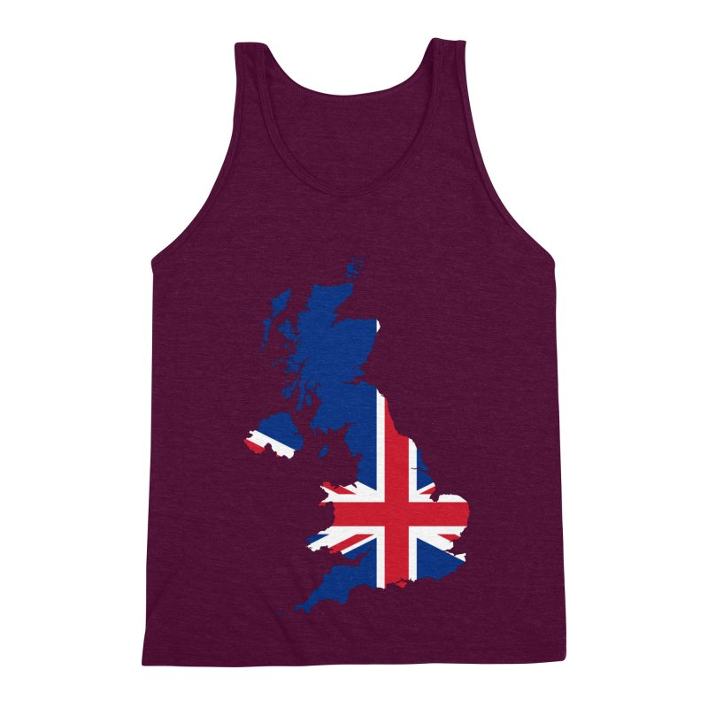 United Kingdom Patriot Apparel & Accessories Men's Triblend Tank by Vectors NZ