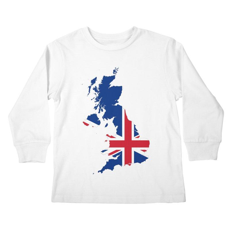 United Kingdom Patriot Apparel & Accessories Kids Longsleeve T-Shirt by Vectors NZ