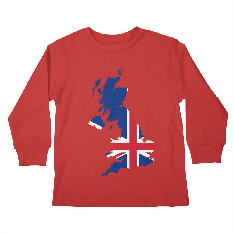United Kingdom Patriot Apparel & Accessories Kids Longsleeve T-Shirt by Vectors NZ