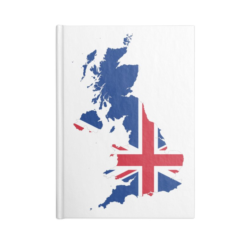 United Kingdom Patriot Apparel & Accessories Accessories Blank Journal Notebook by Vectors NZ