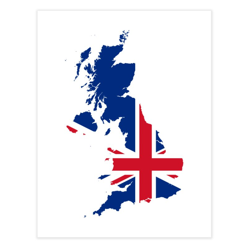 United Kingdom Home Products Home Fine Art Print by Vectors NZ