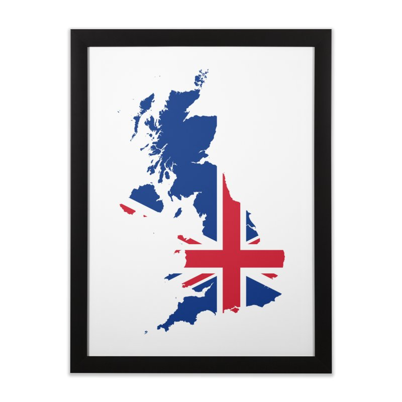United Kingdom Home Products Home Framed Fine Art Print by Vectors NZ