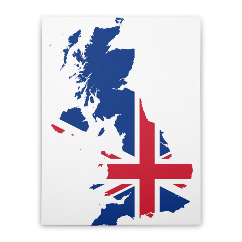 United Kingdom Home Products Home Stretched Canvas by Vectors NZ