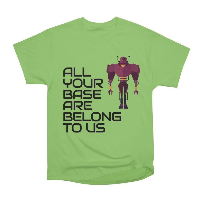 All Your Base (Black Text) Men's Heavyweight T-Shirt by Vectors NZ