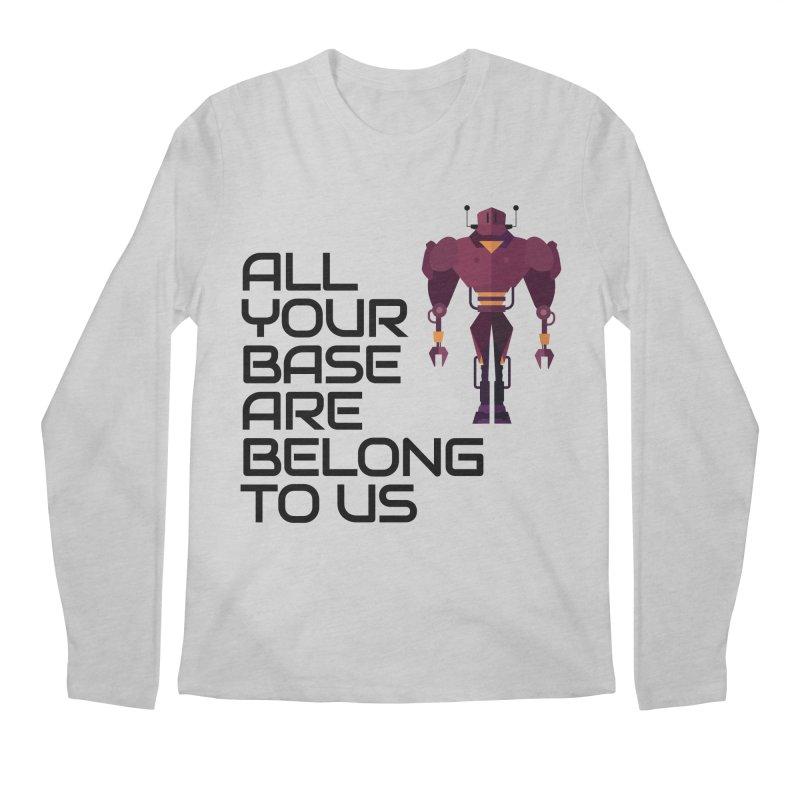 All Your Base (Black Text) Men's Regular Longsleeve T-Shirt by Vectors NZ