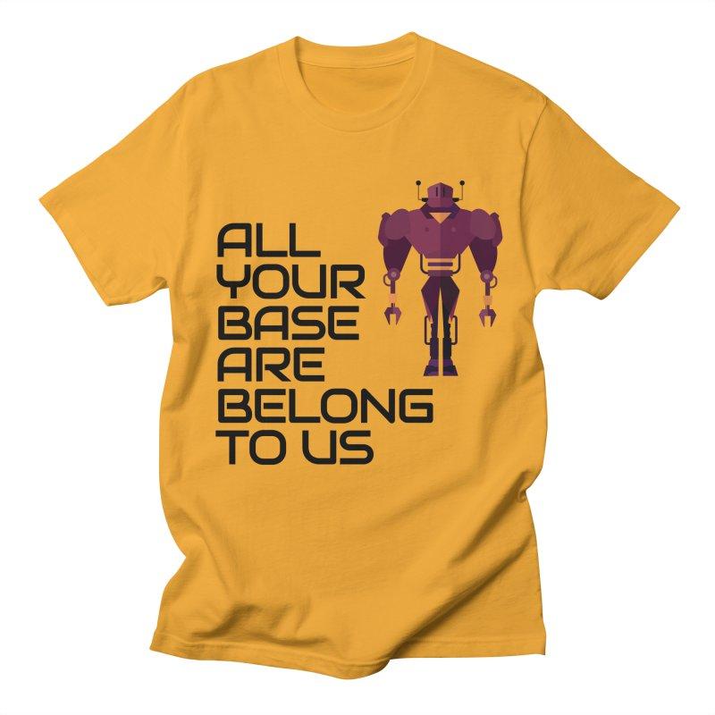 All Your Base (Black Text) Men's Regular T-Shirt by Vectors NZ