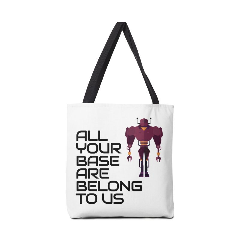All Your Base (Black Text) Accessories Tote Bag Bag by Vectors NZ