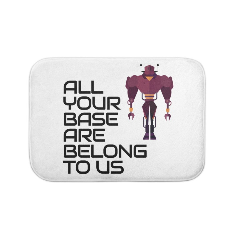 All Your Base (Black Text) Home Bath Mat by Vectors NZ