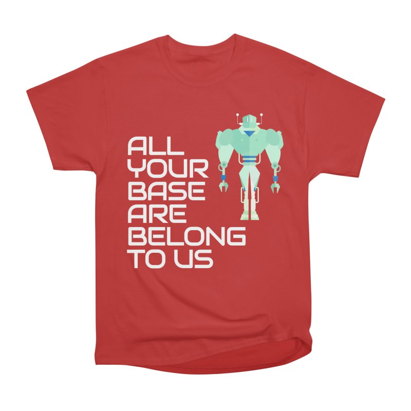 All Your Base (White Text) Women's Heavyweight Unisex T-Shirt by Vectors NZ