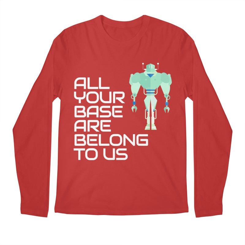 All Your Base (White Text) Men's Regular Longsleeve T-Shirt by Vectors NZ