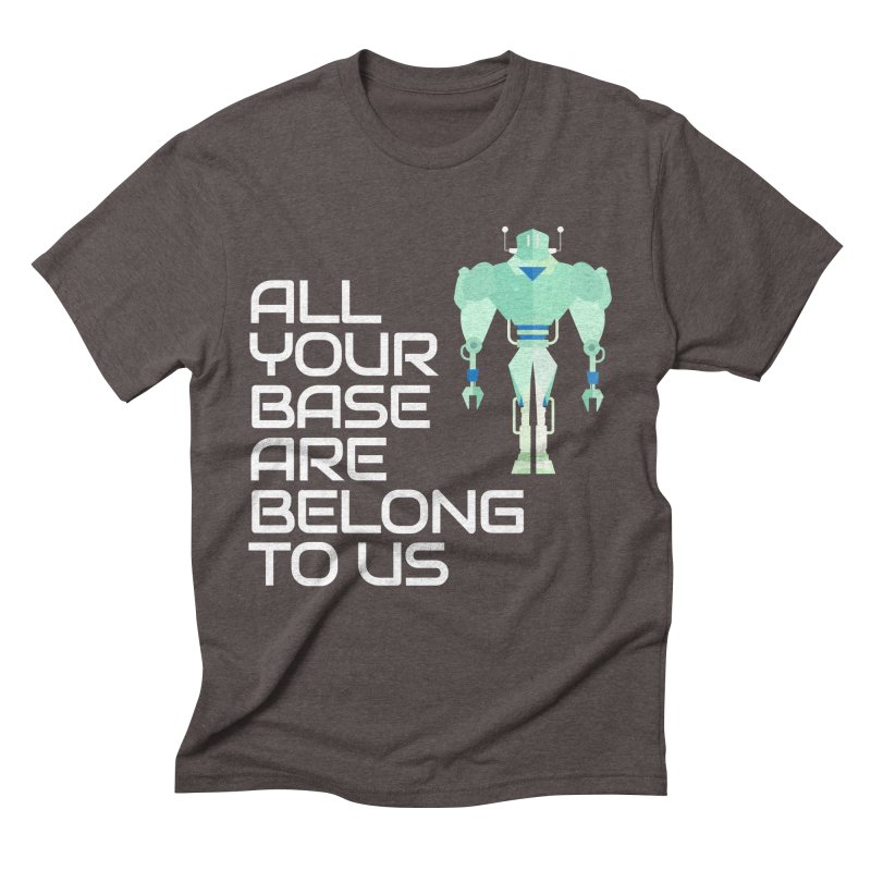 All Your Base (White Text) Men's Triblend T-Shirt by Vectors NZ