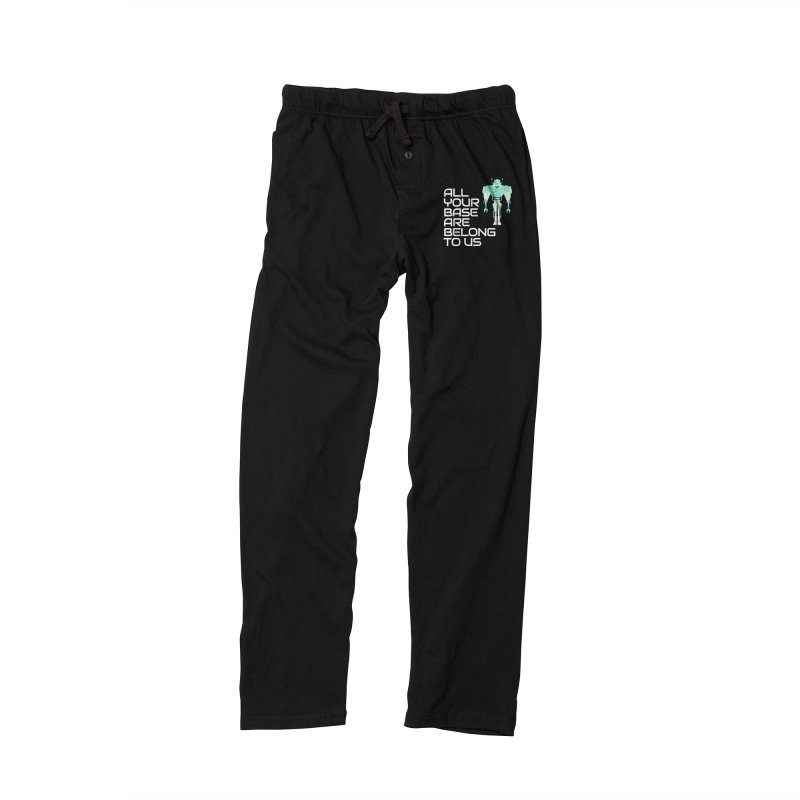 All Your Base (White Text) Men's Lounge Pants by Vectors NZ