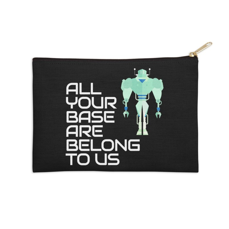 All Your Base (White Text) Accessories Zip Pouch by Vectors NZ