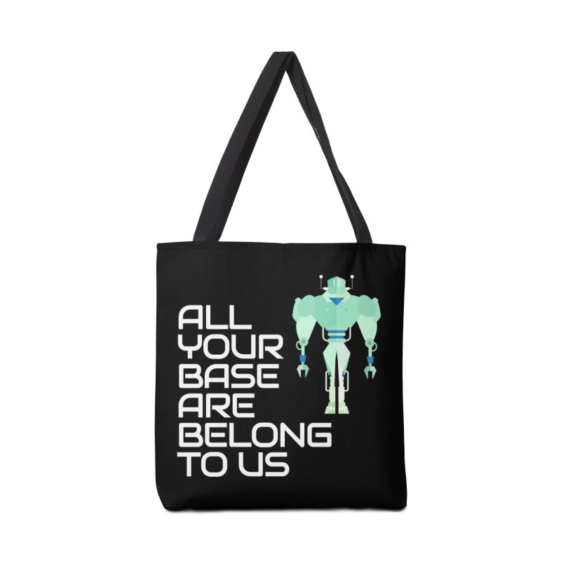 All Your Base (White Text) Accessories Tote Bag Bag by Vectors NZ