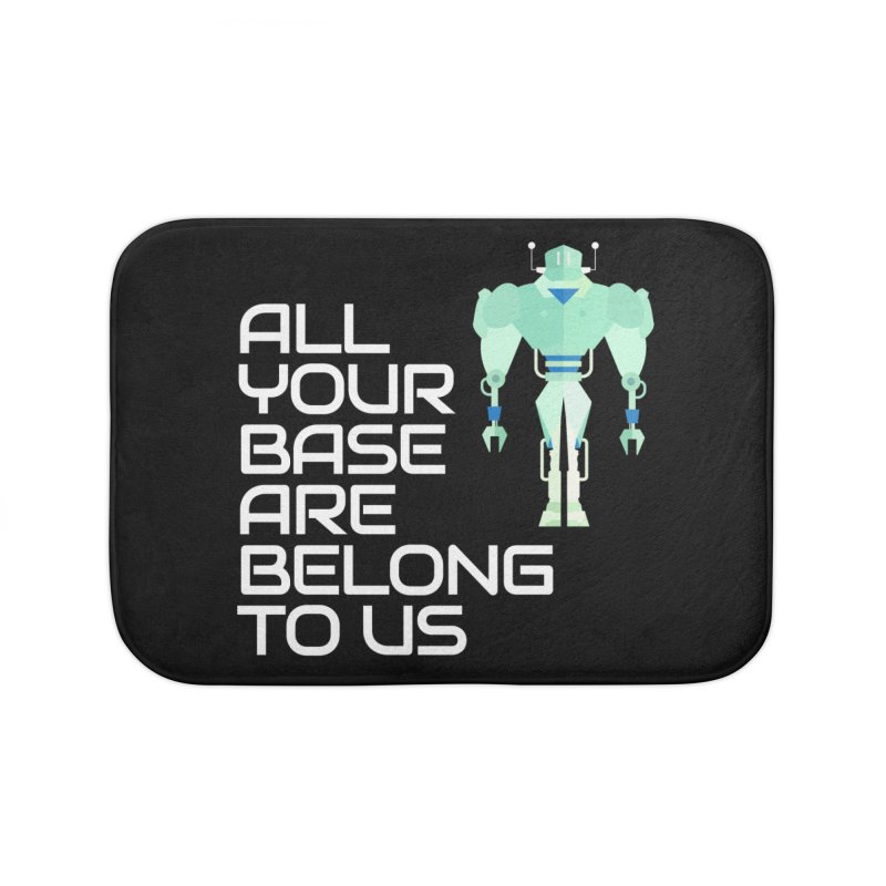 All Your Base (White Text) Home Bath Mat by Vectors NZ