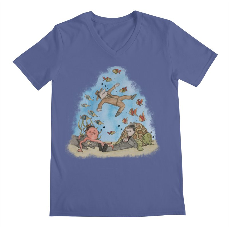 Sleeping With The Fishes Men's V-Neck by VEEDLEMONSTER TEES