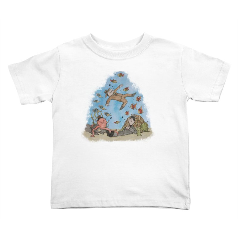 Sleeping With The Fishes Kids Toddler T-Shirt by VEEDLEMONSTER TEES