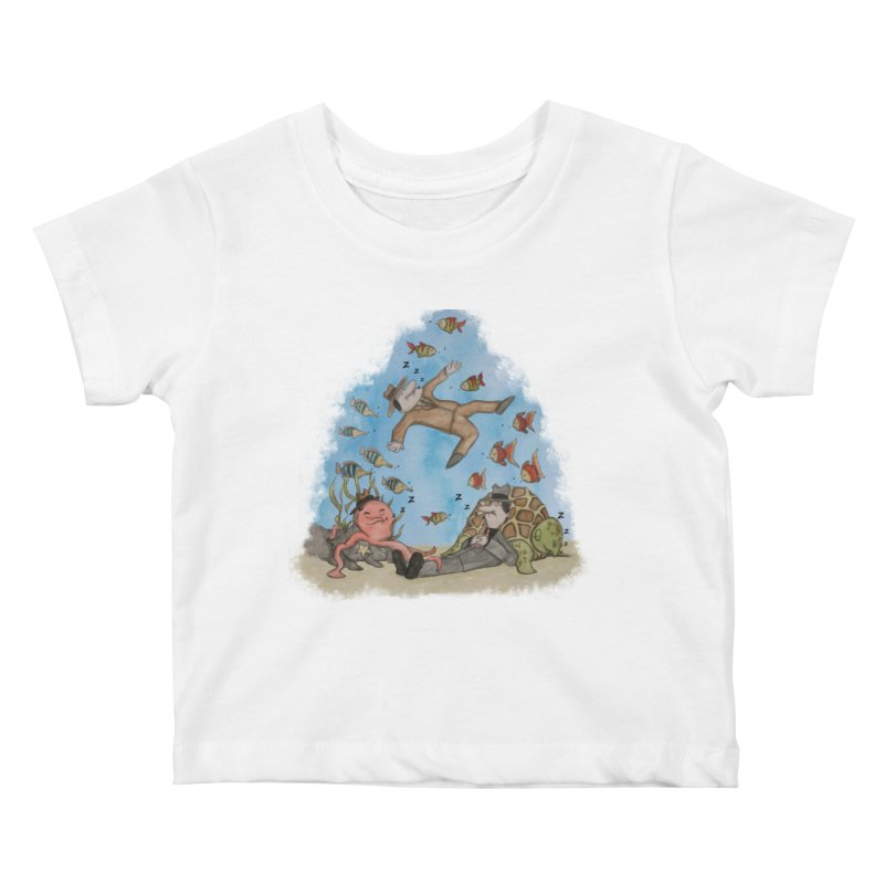 Sleeping With The Fishes Kids Baby T-Shirt by VEEDLEMONSTER TEES