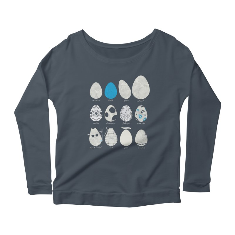 All In One Basket Women's Longsleeve Scoopneck  by VEEDLEMONSTER TEES