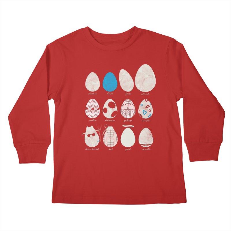 All In One Basket Kids Longsleeve T-Shirt by VEEDLEMONSTER TEES
