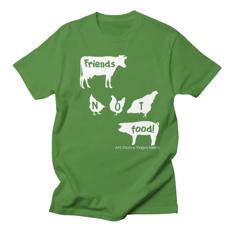 Friends not food (silhouette) in Men's Regular T-Shirt Clover by Art From a Vegan Heart