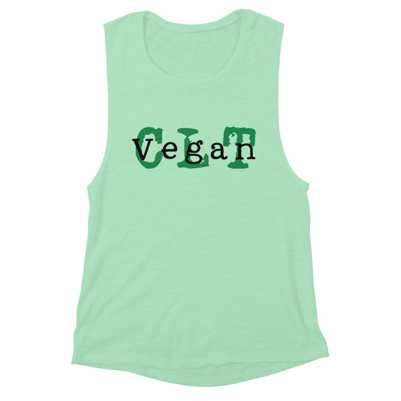 Vegan CLT (Charlotte) Women's Muscle Tank by Art From a Vegan Heart