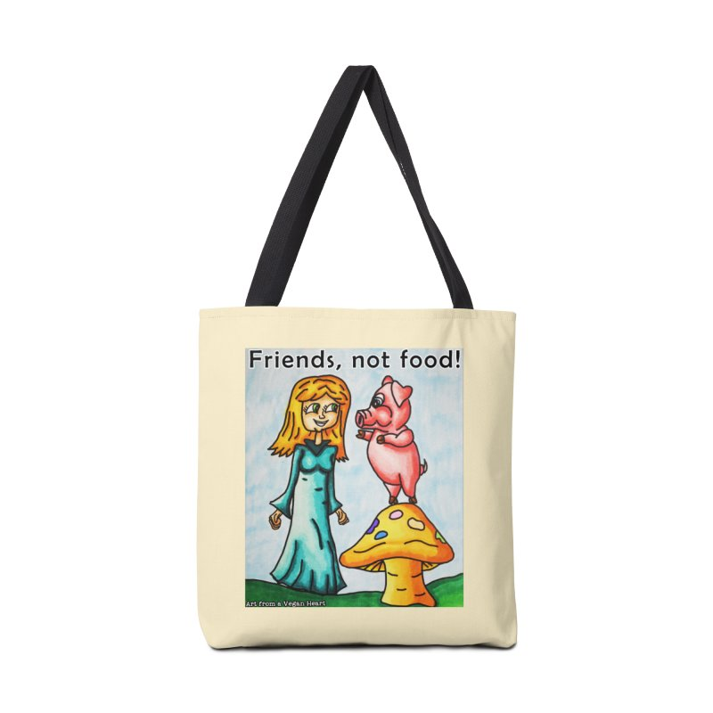 Friends Not Food Accessories Tote Bag Bag by Art From a Vegan Heart