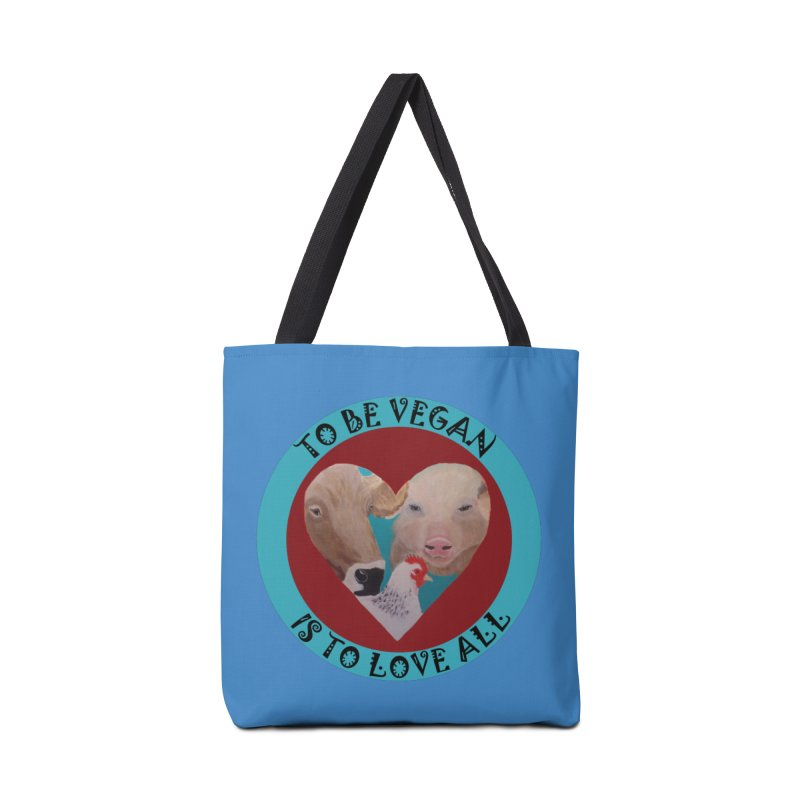 Vegan Heart Accessories Tote Bag Bag by Art From a Vegan Heart
