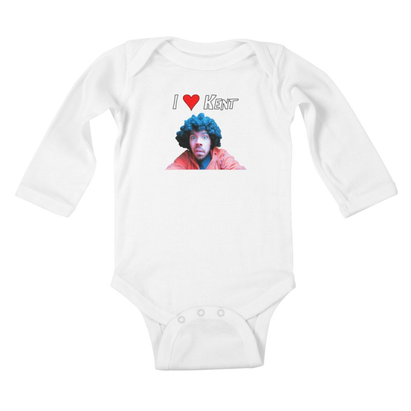 I Love Kent Kids Baby Longsleeve Bodysuit by Vegetable Police