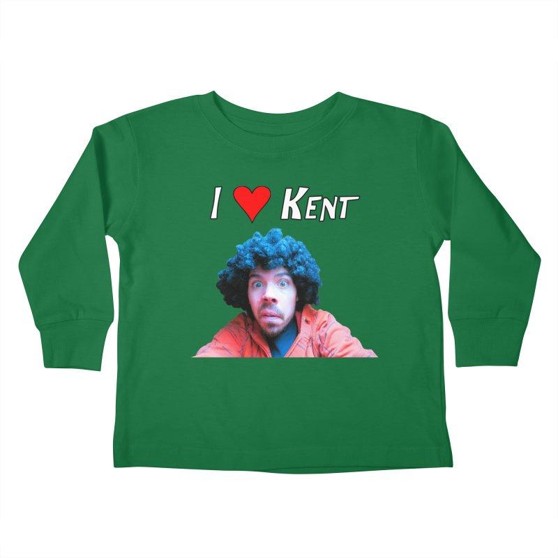 I Love Kent Kids Toddler Longsleeve T-Shirt by Vegetable Police