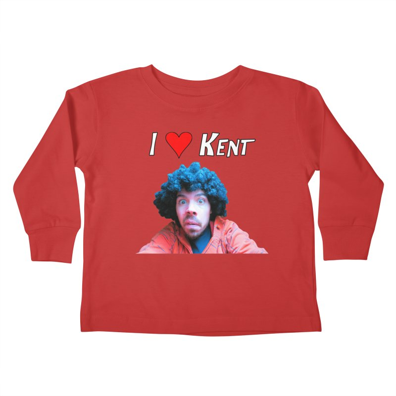 I Love Kent Kids Toddler Longsleeve T-Shirt by Vegetable Police